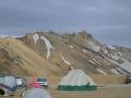 V kempu Landmannalaugar